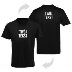 Koszulka z obustronnym tekstem - męska