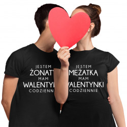 Komplet dla pary - Jestem żonaty Jestem mężatką - koszulki z nadrukiem