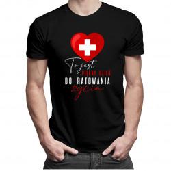 To jest piękny dzień do ratowania życia - męska koszulka z nadrukiem