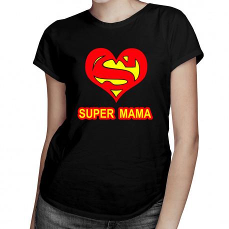 Super mama - damska koszulka z nadrukiem