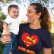 Super mama v2 - damska koszulka z nadrukiem