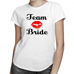 Team Bride - damska koszulka z nadrukiem