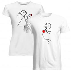 Komplet dla pary - Przyciągamy się jak magnes - koszulki z nadrukiem