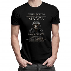 Jestem facetem z marca. Mam 3 oblicza - męska koszulka z nadrukiem