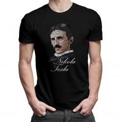 Nikola Tesla - męska koszulka z nadrukiem