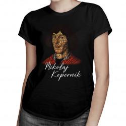 Mikołaj Kopernik - damska koszulka z nadrukiem