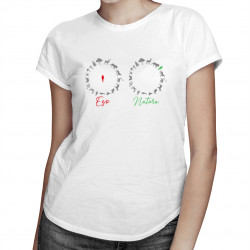 Ego / Natura - damska koszulka z nadrukiem