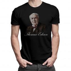 Thomas Edison - męska koszulka z nadrukiem