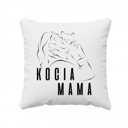 Kocia mama - poduszka z nadrukiem