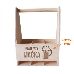 Piwo taty Maćka - personalizowane nosidło z grawerem