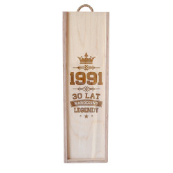 Narodziny legendy 30 lat - skrzynka na wino z grawerem
