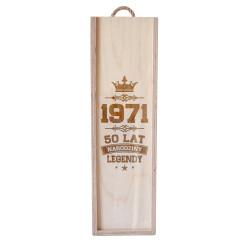 Narodziny legendy 50 lat - skrzynka na wino z grawerem