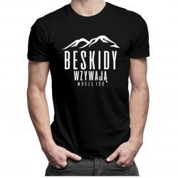 Beskidy wzywają - muszę iść - męska koszulka z nadrukiem