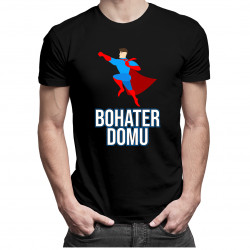 Bohater domu - męska koszulka z nadrukiem