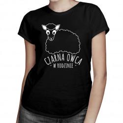 Czarna owca w rodzinie- damska koszulka z nadrukiem