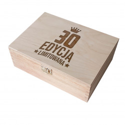 30 lat - edycja limitowana - drewniane pudełko z grawerem