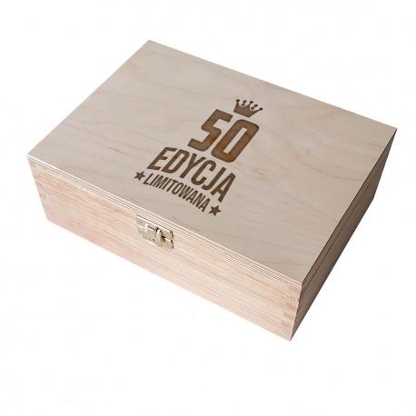 50 lat - edycja limitowana - drewniane pudełko z grawerem