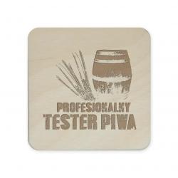 Profesjonalny tester piwa - komplet podkładek pod kubek z grawerem