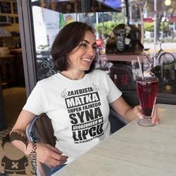 Zajebista matka super fajnego syna urodzonego w lipcu - damska koszulka z nadrukiem