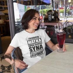 Zajebista matka super fajnego syna urodzonego w listopadzie - damska koszulka z nadrukiem