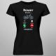 Rower dzwoni - muszę iść- damska koszulka z nadrukiem