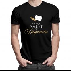 Czekam na mój list z Hogwartu - męska koszulka z nadrukiem