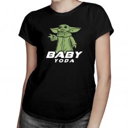 Baby Yoda - damska koszulka z nadrukiem