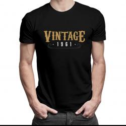 Vintage 1961 - męska koszulka z nadrukiem