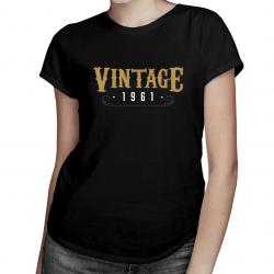 Vintage 1961 - damska koszulka z nadrukiem