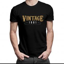 Vintage 1981 - męska koszulka z nadrukiem