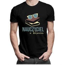 Nauczyciel z klasą - męska koszulka z nadrukiem