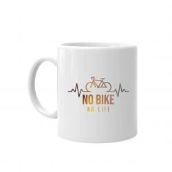 No bike, no life - kubek z nadrukiem