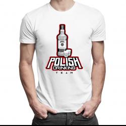 Polish Drinking Team - męska koszulka z nadrukiem