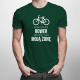 Bardziej niż rower kocham tylko moją żonę - męska koszulka z nadrukiem